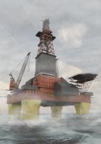 3D rendering of rig platform