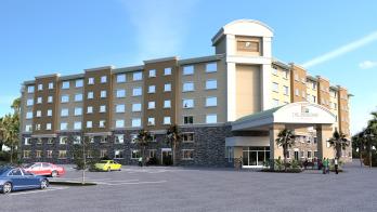 3D rendering of hotel