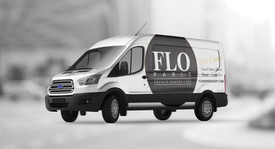 Flo Paris Bakery Vehicle Wrap Design