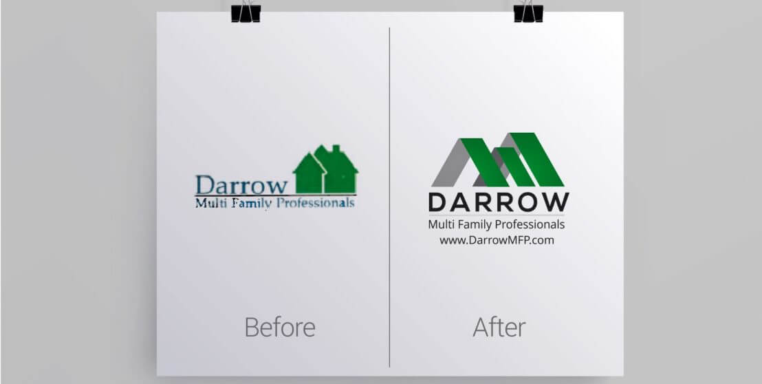 Houston Company Logo Redesign Before and After